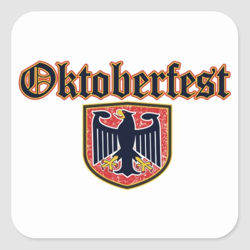Escudo de Oktoberfest Calcomanía Cuadradas Personalizadas