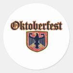 Escudo de Oktoberfest Pegatinas Redondas