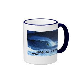 """Escudo de onda con """"referencia del tiempo de la taza de dos colores"""