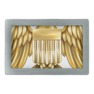 Escudo de oro de American Eagle Hebillas Cinturon Rectangulares
