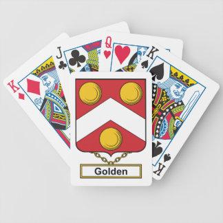 Escudo de oro de la familia baraja