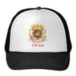 Escudo de Ortiz de Puerto Rico Gorros