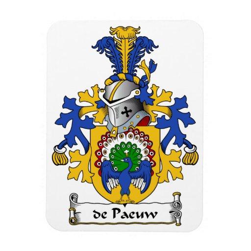 escudo de Paeuw Family Iman Rectangular