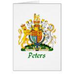 Escudo de Peters de Gran Bretaña Felicitaciones