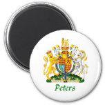 Escudo de Peters de Gran Bretaña Imán Para Frigorifico