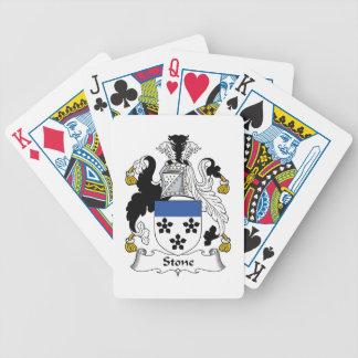 Escudo de piedra de la familia cartas de juego
