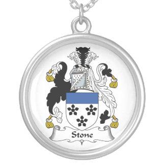 Escudo de piedra de la familia colgante redondo