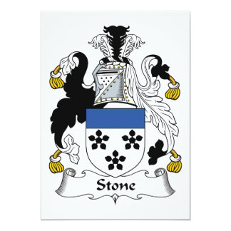 """Escudo de piedra de la familia invitación 5"""" x 7"""""""