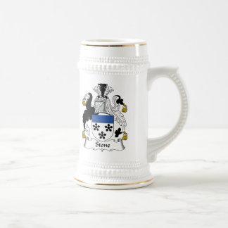 Escudo de piedra de la familia jarra de cerveza