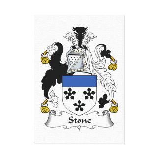 Escudo de piedra de la familia lienzo envuelto para galerias