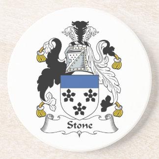 Escudo de piedra de la familia posavasos de arenisca
