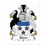 Escudo de piedra de la familia postales