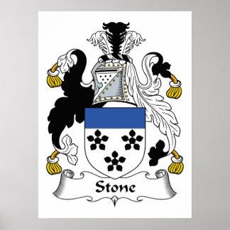 Escudo de piedra de la familia póster