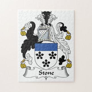 Escudo de piedra de la familia rompecabezas