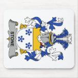 Escudo de piedra de la familia alfombrilla de ratón