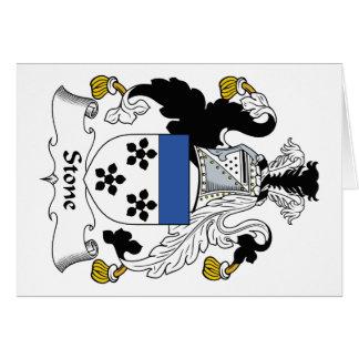 Escudo de piedra de la familia tarjeta de felicitación