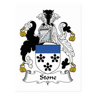 Escudo de piedra de la familia tarjetas postales