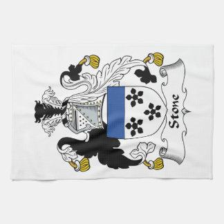 Escudo de piedra de la familia toallas de mano