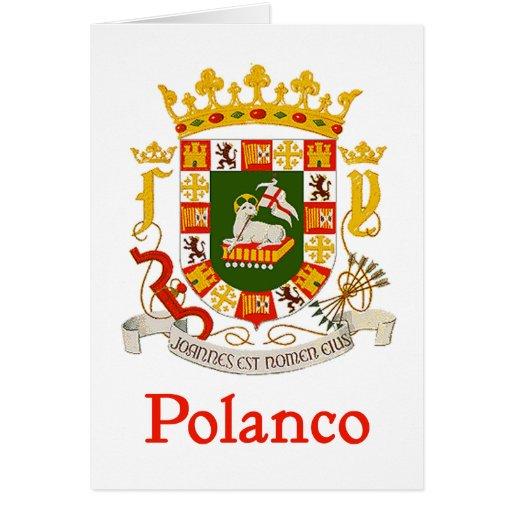 Escudo de Polanco Puerto Rico Tarjeta De Felicitación