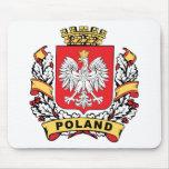 Escudo de Polonia Tapete De Raton
