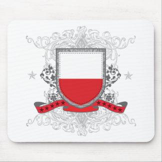 Escudo de Polonia Alfombrillas De Ratones