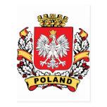 Escudo de Polonia Tarjeta Postal