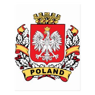Escudo de Polonia Tarjetas Postales