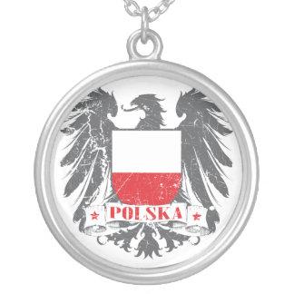Escudo de Polska Colgante Redondo