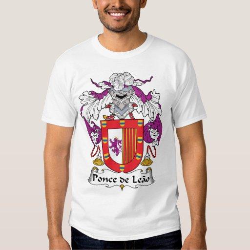 Escudo de Ponce de Leao Family Poleras