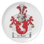 escudo de Ram Family Plato Para Fiesta