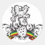 Escudo de Rasta Etiqueta Redonda