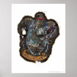 Escudo de Ravenclaw - destruido Póster