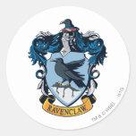 Escudo de Ravenclaw Pegatina Redonda