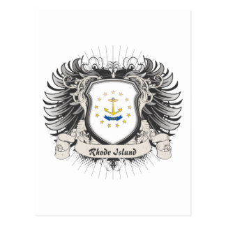 Escudo de Rhode Island Postales