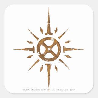 Escudo de Rohan Calcomanías Cuadradass Personalizadas