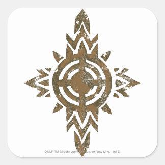 Escudo de Rohan Pegatina Cuadrada