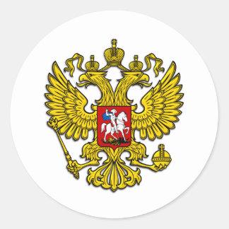 Escudo de Rusia Pegatina Redonda