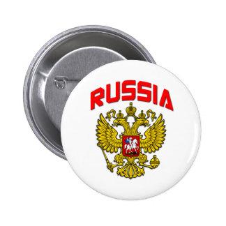 Escudo de Rusia Pin Redondo De 2 Pulgadas