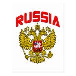 Escudo de Rusia Tarjeta Postal
