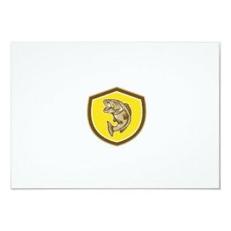 Escudo de salto de la perca americana retro invitación 8,9 x 12,7 cm
