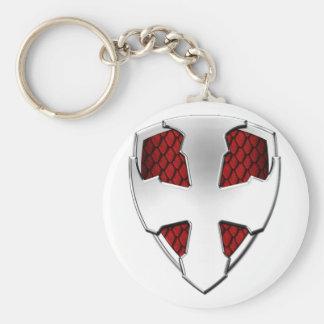 Escudo de San Jorge Llavero Redondo Tipo Pin