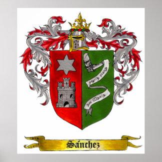 Escudo de Sánchez de los brazos (castellanos) Póster