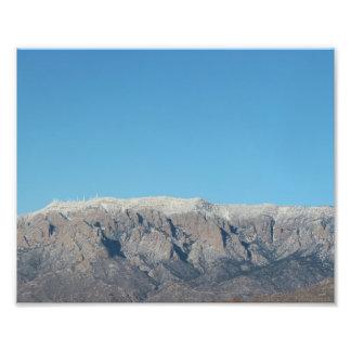 Escudo de Sandia con nieve en Albuquerque Fotografía