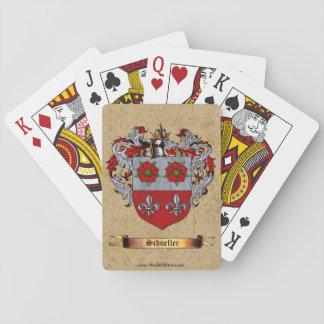 Escudo de Schueller de brazos Baraja De Póquer