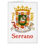 Escudo de Serrano de Puerto Rico Tarjeta De Felicitación