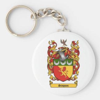 Escudo de Simpson - escudo de armas Llavero Redondo Tipo Pin