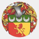Escudo de Simpson - escudo de armas Pegatina Redonda