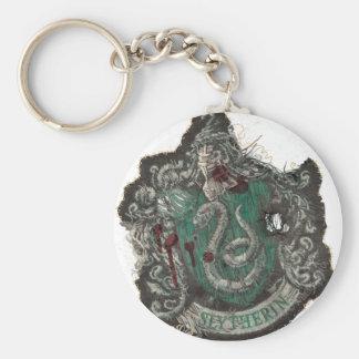 Escudo de Slytherin - destruido Llavero Redondo Tipo Pin