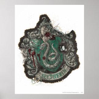 Escudo de Slytherin - destruido Póster