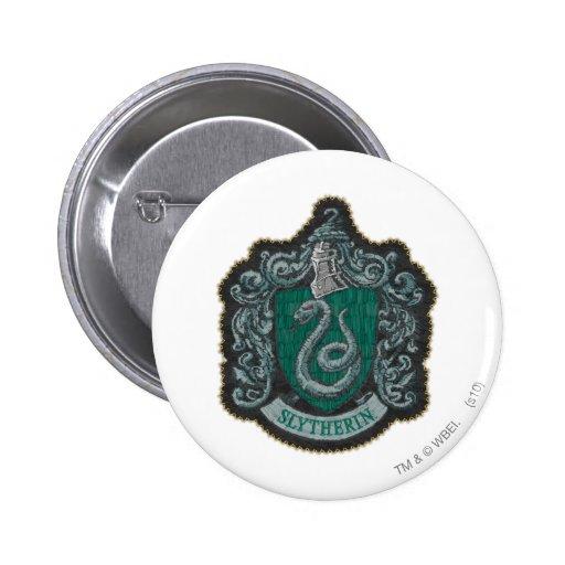 Escudo de Slytherin Pin Redondo 5 Cm
